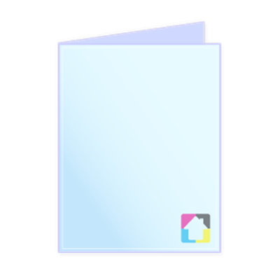Folded Note Cards A2  - Vertical